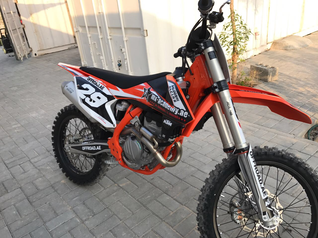 ktm 250 sx f 2018 with new stickers from moto 1812. Black Bedroom Furniture Sets. Home Design Ideas